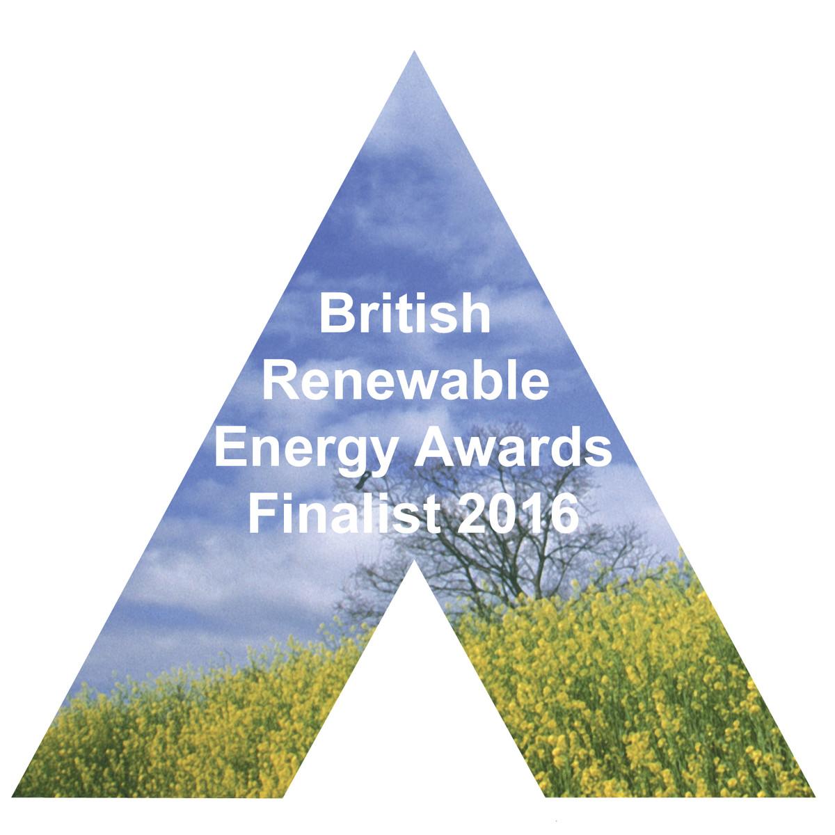 British Renewable Energy Awards 2016 finalist