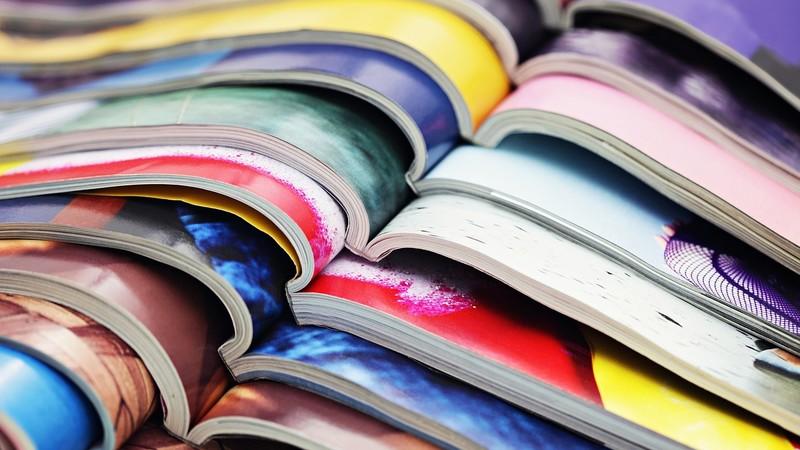 Stacks of magazine